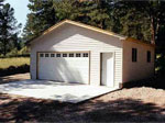 Window Style Custom Built 2 Car Garage