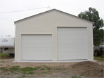 Budget garages custom built garages for How tall is an rv garage door
