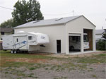 Tall Two Door Custom Built RV and Boat Garage
