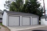 Budget garages 2 3 car reverse gable garages for Reverse gable garage